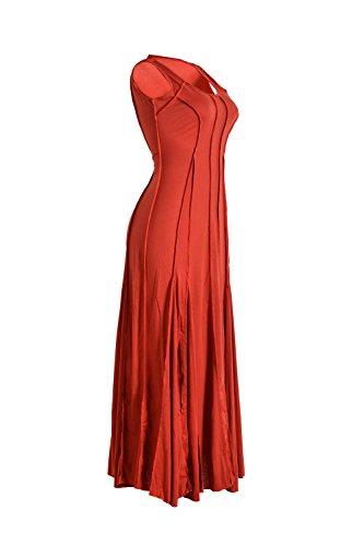 Frauen Sexy ärmellosen Swing Maxi Abendkleid Red
