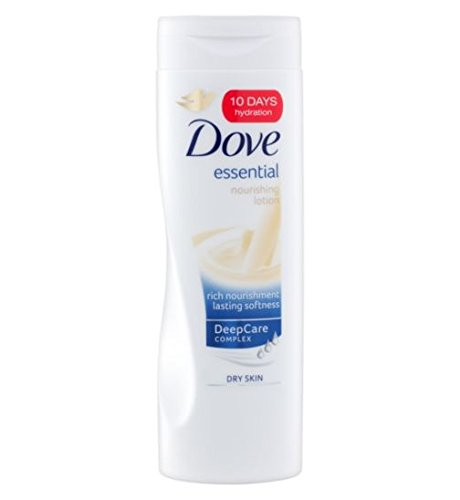 Dove Essential Nourishing Lotion for Dry Skin 400 mL with Free Ayur Soap  available at amazon for Rs.832