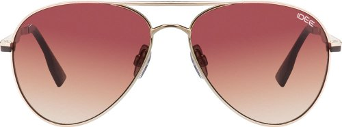 IDEE Aviator Sunglasses (IDS1762C2SG|100 Gold Brown) image