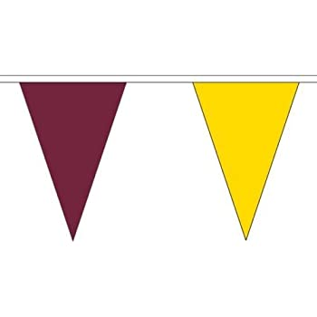 Red and White Triangle Flag Bunting 27 flags on this 10 metre Long Bunting