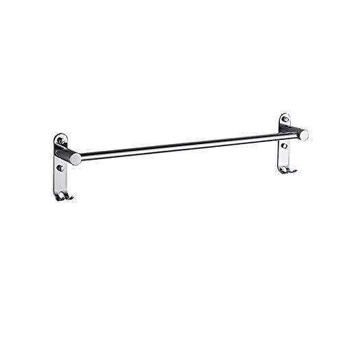 HHXX Handtuchhalter aus Edelstahl, selbstklebend oder mit Schrauben befestigt, Badzubehör in poliertem Finish (Size : 60cm) -