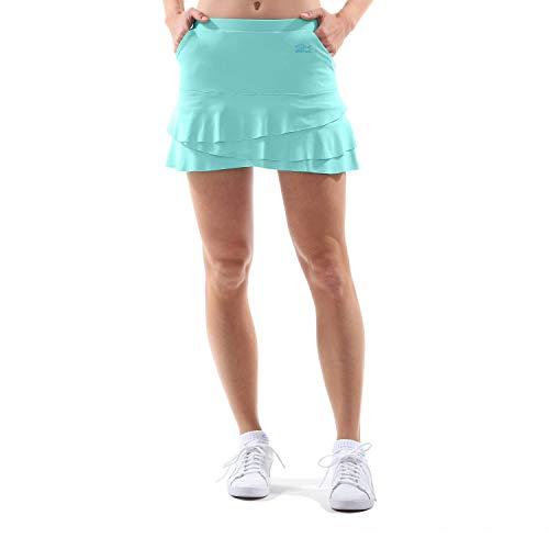 Sportkind Mädchen & Damen Tennis/Hockey/Golf Tulip Rock mit Taschen & Innenhose, mint, Gr. 140 - Golf Mädchen
