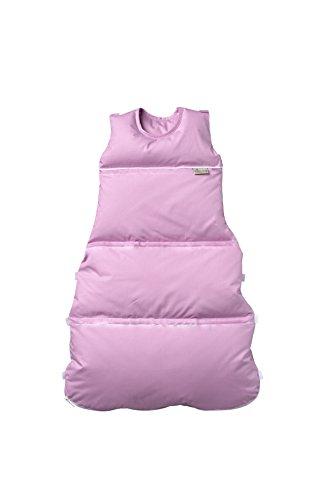 Premium Daunenschlafsack, längenverstellbar, Alterskl. ca 3-20 Monate, rose uni, 80 cm