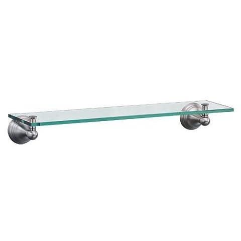 Gatco 4366 Charlotte Glass Shelf, Satin Nickel by Gatco