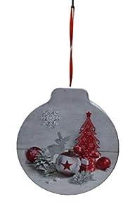 Idena 30181 - Caja de regalo para Navidad, color gris y rojo