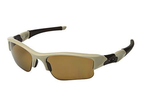 Oakley Flak Jacket XLJ Polarized Sunglasses Desert Tan Frame / Bronze Polarized Lens 53-100