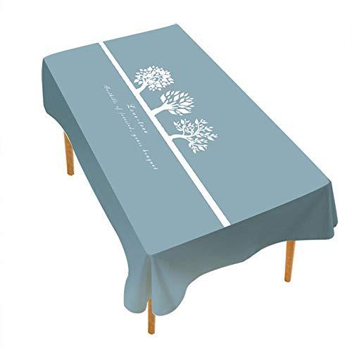 ChuangYing Europäisch anmutenden dunklen Blau Karierten Tisch Stoff wasserdicht Drucken Baumwolle Leinen rechteckige Tischdecke weiche Heimtextilien