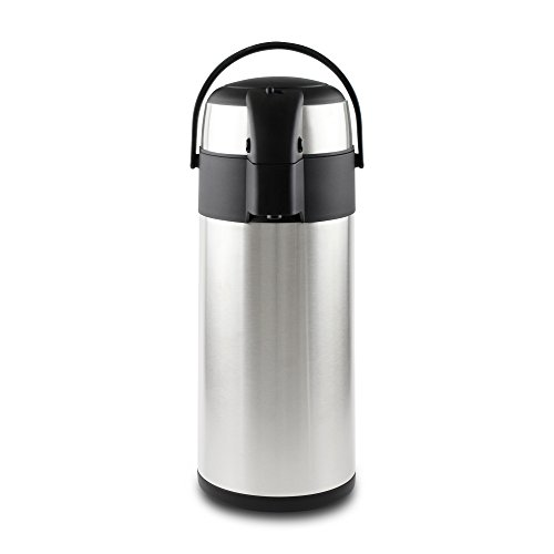Pioneer - Termo de acero inoxidable con dispensador de té y café, acero inoxidable, Satin Finish, 3 L