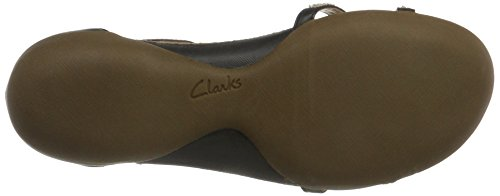 Clarks - Raffi Star, Sandali Donna Black Leather