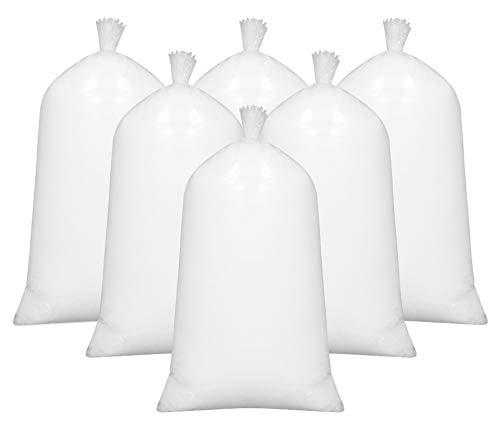 lmaterial, 100% silikonisierte Polyesterhohlfasern, 6X 1kg, weiß ()