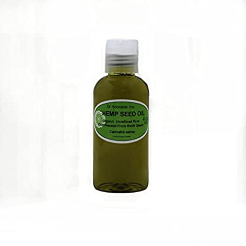 Organic Pure Carrier Oils Cold Pressed 4 oz (Hemp Oil)