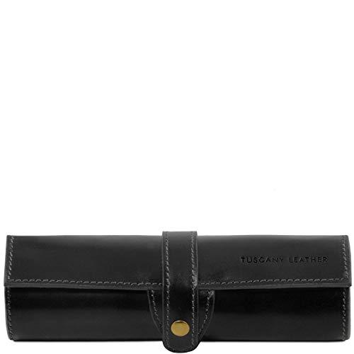 Tuscany Leather Exclusif étui pour stylos en Cuir Noir