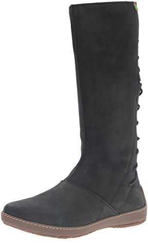 El Naturalista Nd16 Pleasant Bee, Stivali da Equitazione Donna Nero (Black)