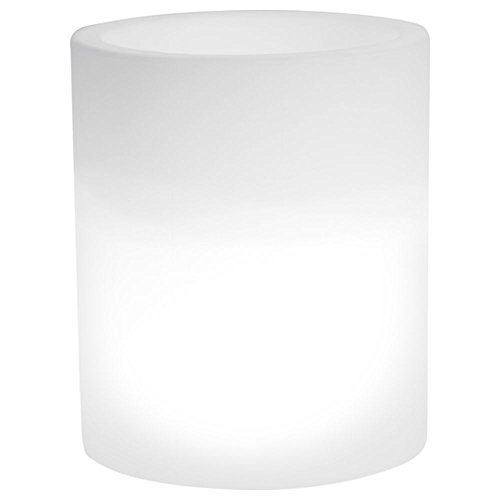 hydroflora 63005200 Maceta luminosa LED Nicoli Echo Light, diámetro 35 cm, altura 42 cm, ideal para entornos exteriores, blanco frío