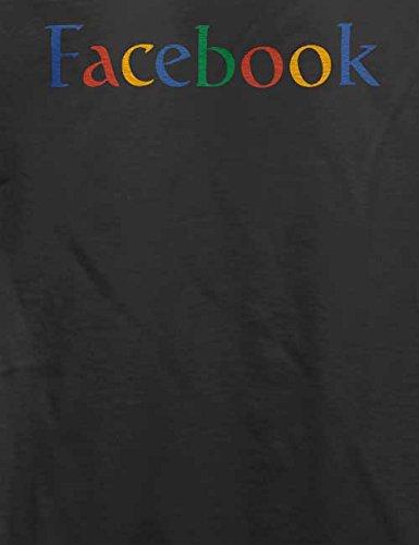 Facebook Google T-Shirt Grau