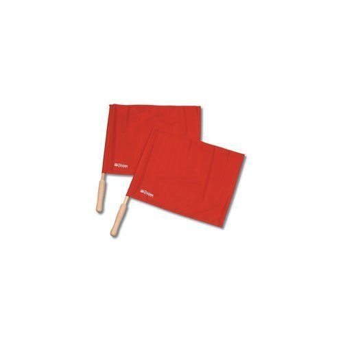 Tandem Sport Red Linesman Solid flag with Wooden Handle (Set of 2) by Tandem Sport