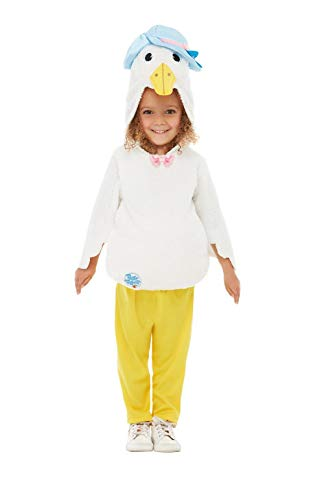 Smiffys 50184S Offizielles Lizenzprodukt Peter Hase Deluxe Jemima Puddle-Duck Kostüm, Unisex, für - Kinder Peter Hase Kostüm