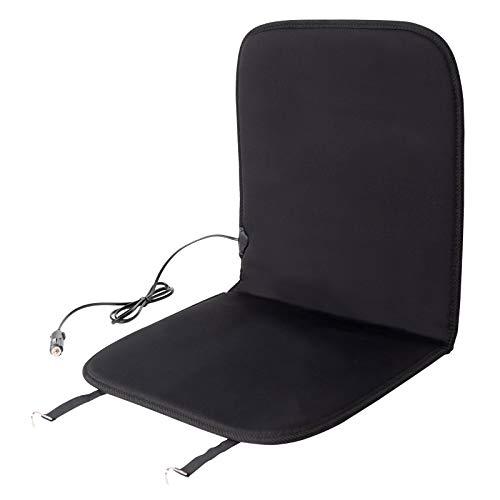 EUGAD 0002JRD Sitzheizung Auto 12 V Heizung für Sitz & Rücken Vordersitz Überhitzungsschutz Schwarz 82 x 44 cm