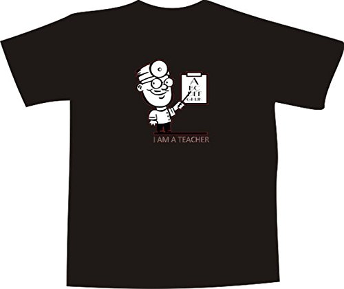 T-Shirt E1249 Schönes T-Shirt mit farbigem Brustaufdruck - Logo / Grafik / Design - Augenarzt beim Sehtest Mehrfarbig