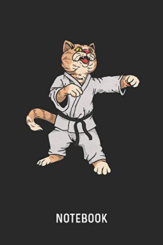 Notebook: Blank & Lined Martial Arts Karate Cat Journal (6' x 9')