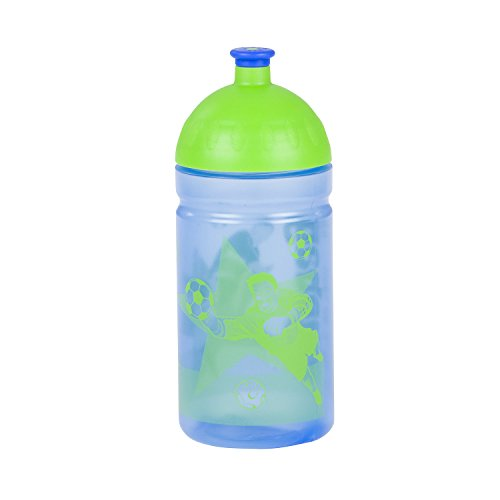 ERGOBAG Drinking Bottle Isybe Rucksack, 20 cm, 0.5 L, Blue Green Zigzag