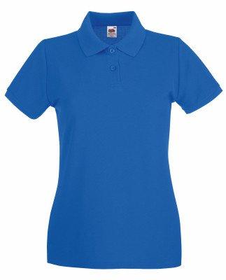 Blue Womens V-neck T-shirt (Lady-Fit Premium Poloshirt Fruit of the Loom neue Farben 2017 XL Royal Blue)