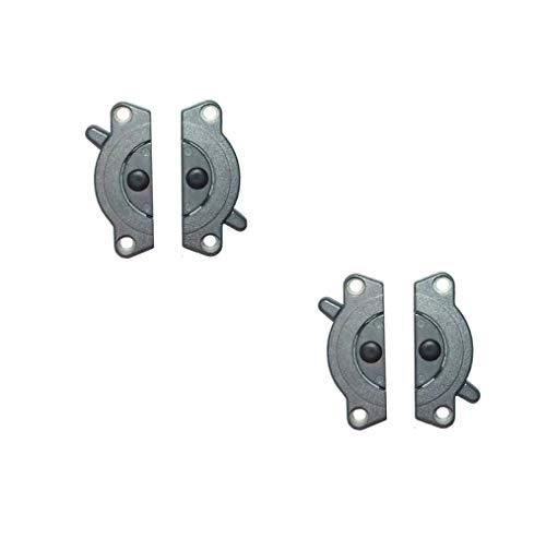 Gedotec Möbelverbinder Metall Tischplatten-Verbinder SET zum Anschrauben TACO K4 zweiteilig | Arbeitsplatten-Verbinder Stahl verzinkt | Möbelbeschläge | 2 Set