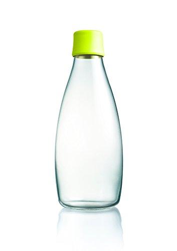 Retap Wasserflasche 05, Glas, glas, Gelb, 800 ml