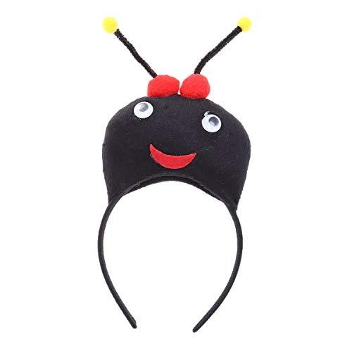 Insek Ameise Stirnband mit Fühler Kopfschmuck Haarband Cosplay Aufführung Kostüm (Schwarz) ()