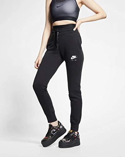 Nike Damen W NSW Air FLC Hose, Schwarz (black/White), S -
