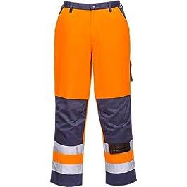 Portwest TX51 Pantaloni Lyon Alta Visibilità, Arancione/Navy, 4XL