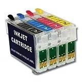 4 wiederbefüllbare Quickfill / Fill-in Patronen mit Auto-Reset-Chips wie Epson T18 XL - T1811, T1812, T1813, T1814 / T1801, T1802, T1803, T1804 / T1806 / T1816 für XP-100, XP-102, XP-200, XP-202, XP-205, XP-210, XP-212, XP-215, XP-225, XP-30, XP-300, XP-302, XP-305, XP-310, XP-312, XP-313, XP-315, XP-320, XP-322, XP-325, XP-33, XP-400, XP-402, XP-405, XP-410, XP-412, XP-413, XP-415, XP-420, XP-422, XP-425 - QE18