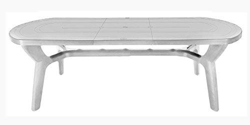 Tavolo da giardino allungabile in plastica/resina 180/230 cm
