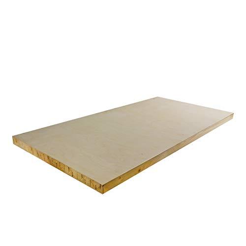 DEMA Holzplatte für Werkbank 120 cm (Werkbank Platte)