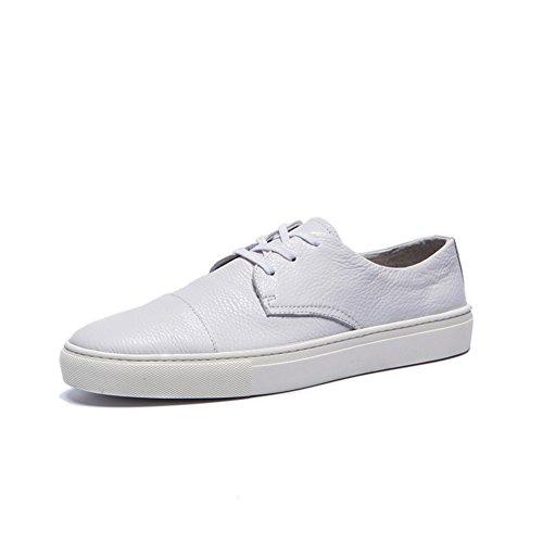 Mode chaussures homme blanc/Jeunes sabot blanc/ la version coréenne des chaussures de sport en cuir souple A