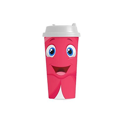 ke Gewohnheit 16 Unze doppelwandiger Plastikisolierte Sport Wasser Flaschen Schalen Pendler Reise Kaffeetassen für Studenten Frauen Milch Teetasse Getränk ()