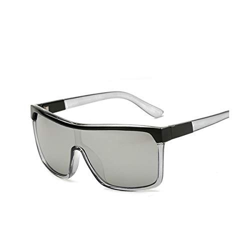 RTGreat VISION Square Shield Sunglasses Sonnenbrille Men Driving Male Luxury Sun Glasses For Men Designer Cool Shades MIRROR Retro CJXY802 C5 Silver