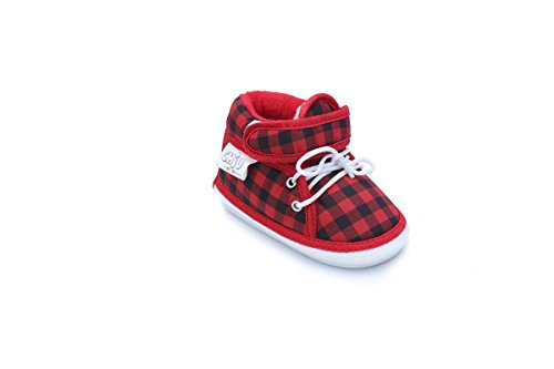 Chiu Red Color Velcro with Lace Whistle Musical Outdoor First Walking Shoes 16-20Months