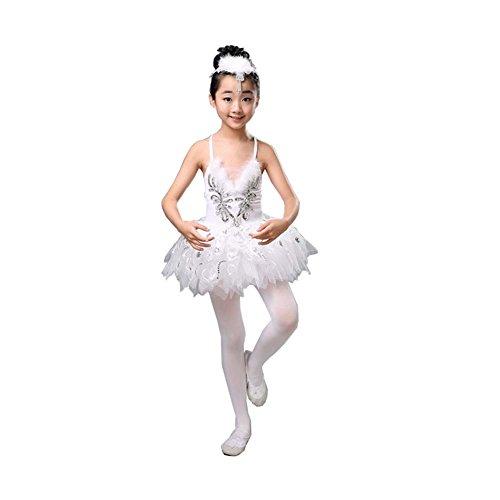 Ballett Tanz Zubehör Mädchen Dancewear Trikotanzug Tutu Kleid Party Kostüme, A