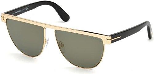 Tom Ford Unisex-Erwachsene FT0570 28C 60 Sonnenbrille, Gold (Oro Rosa Lucido/Fumo Specchiato),