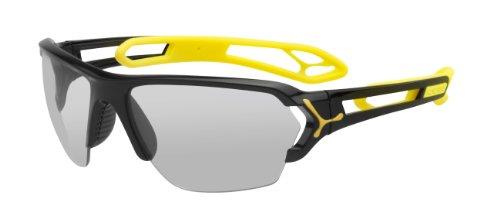 Cébé Sonnenbrille, S'Track Large Shiny Black Yellow Vario Perfo + 1000 Clear, L, CBSTL2