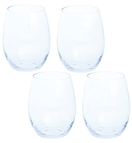 Dartington Crystal Wine Plus Red Wine Stemless, clear, Pack of