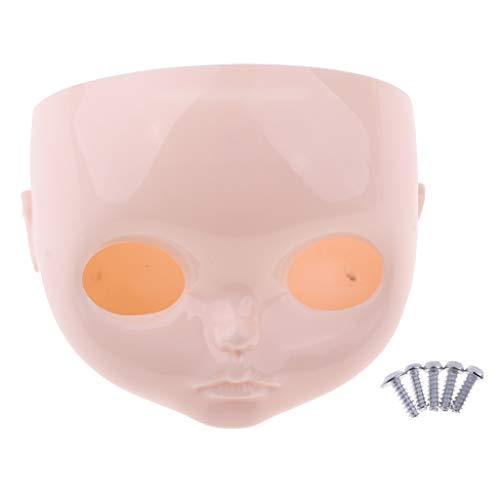 Baoblaze Puppen Faceplate Backplate Kopfschale für 12 Zoll Blythe Puppe DIY Herstellung - # A (Blythe-puppe, Kopf)