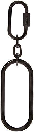 Calvin Klein Damen Statement Keyfob Schlüsselanhänger, Silber (Shiny Gunmetal), 1x4x12 cm