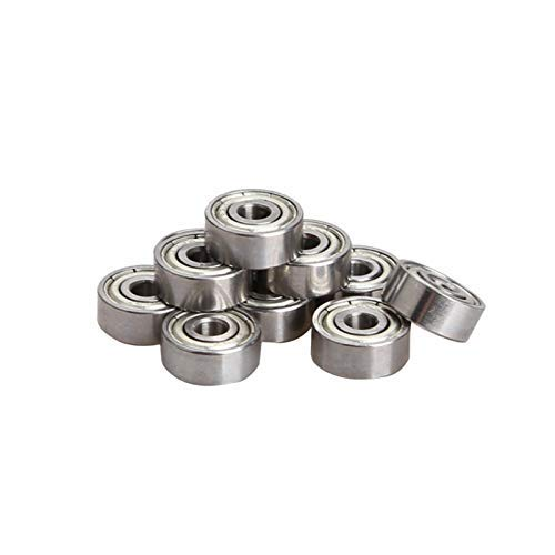 Symboat 10 Pcs Metal Sealed Deep Groove Radial Ball Bearings 3 x 10 x 4mm 623ZZ for RC Car Practical -