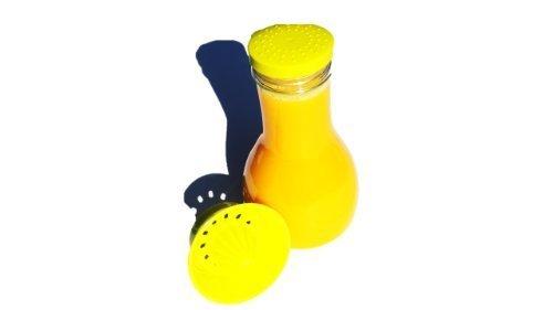 Citrus gelb- Mixer - Flasche 1,2 Liter mit integrierter Zitrus- / Orangenpresse für frische Getränke Juicy Salif