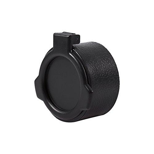 Alomejor Scope Cover Flip Lens Cap Cover Displayschutzfolie Staub Eye Scope Gewehr Flip Schutzkappe Zubehör für Airsoft Jagd Shooting, 44MM -