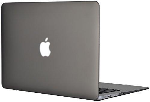 Generic Matt Tasche Case für Apple MacBook Air 13 13.3 Zoll Model Schutzhülle Etui (ohne Apple Ausschnitt logo) Model A1369 and A1466-Grau