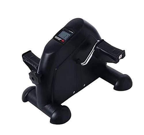 WXX Pedal Exerciser, Mini Übung Bike Peddler Arm Leg Pedal Übung unter Schreibtisch Fittness Bike mit Handle,Black (Bike Peddler)