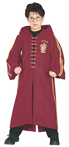 Rubie's Offiziell lizenzierter Harry Potter Quidditch-Umhang Deluxe, Kinderkostüm (Charaktere Aus Harry Potter Kostüm)